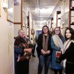 Е.Н. Калинина и студенты в архивохранилище личных фондов